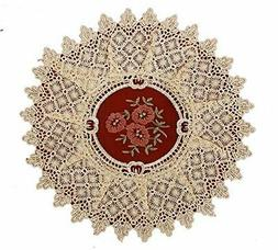 Simhomsen Set Of 4 Lace Table Doilies Round 12 inch, Victori