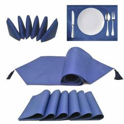 Placemats Table Runner Polyester Fabric Table Mats Set of 13