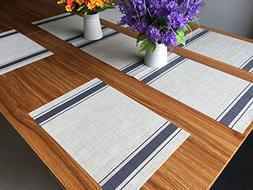 Placemats and Table Runner,Famibay Heat Insulation PVC Place