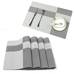 U'Artlines Set of 8 Placemats,Placemats for Dining Table,Hea