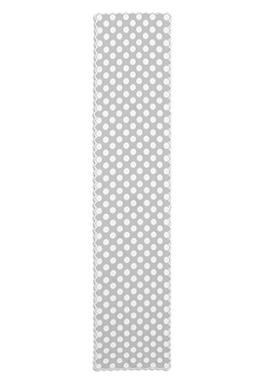 Heritage Lace Polka Dot Table Runner, 18 by 96-Inch, White