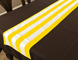 lovemyfabric Poly Cotton 2 Inch Striped Table Runner For Wed
