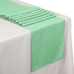 VEEYOO 10 Pieces 14x108 100% Polyester Table Runner for Rest
