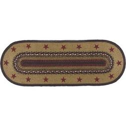 Primitive Oval Table Runner Decorative Dining Kitchen Table