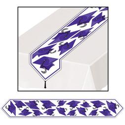 Printed Grad Cap Table Runner  Party Accessory  ,