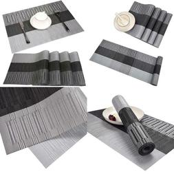 Famibay Pvc Table Place Mats And Table Runner - Heat Insulat