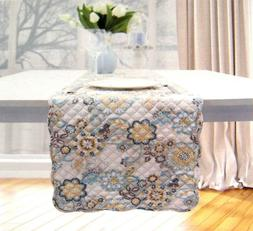 """Waverly Quilted Floral Table Runner 14"""" x 70""""  Polyester Mul"""