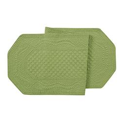 16X51 Inches Quilted RUNNER, GREEN by C&F