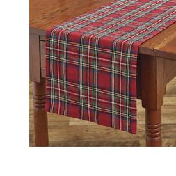 Regal Tartan Table Runner 13x36 Red Green Navy Yellow White