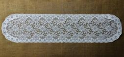 Regency White Lace Table Runners or Place Mats Diningroom Be