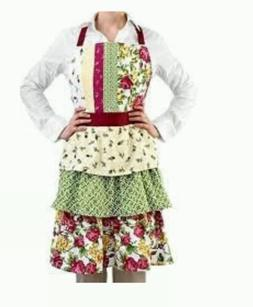 "Homewear Rose Kiss Easy Care Tiered Apron  32""x34"""
