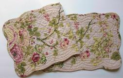 "Great Finds ROSIE Floral Quilted Cotton 42"" Table Runner Pin"