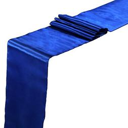 vLoveLife Royal Blue Satin Table Runners 12 x 108 Inch Weddi