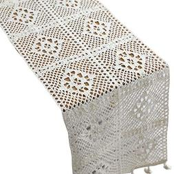 HomeyHo Rustic Cotton Long Dining Table Runners for Weddings