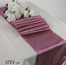 VDS set Of 10 satin Dusty Pink 12 x 108 inch Table Runner dr