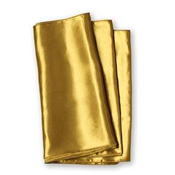 Ling's moment 12 x 108 inches Satin Table Runner Old Gold ,