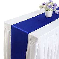 Bigbig_top 10 pieces 12 x 108 inch Satin Table Runner Weddin