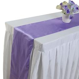 """Pack of 5PCS 12"""" x 108"""" Satin Table Runner Wedding Party Dec"""