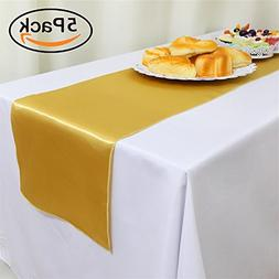 GFCC Pack of 5 Satin Table Runners 12 x 108 Inches for Summe
