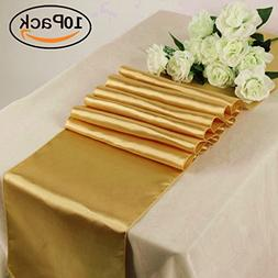 GFCC Pack of 10 Satin Table Runners 12 x 108 Inches for Summ