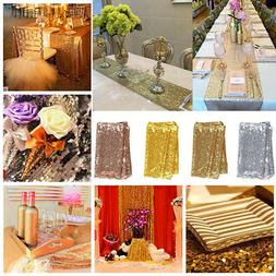 Sequin Table Runner Tablecloth Xmas Party Wedding Decoration