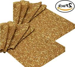 Light & Pro 2Pack Sequins glitz Table Runner in Gold color f