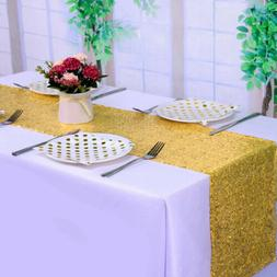 Shinny Rectangle Sequin Tablecloth Banquet Table Runner Wedd