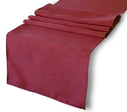 """Creative 13""""x 72"""" Classic Solid Table Top Runner - Burgundy"""