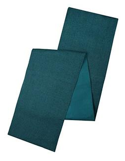 Cotton Craft - Solid Color Jute Table Runner 13x90 - Teal -