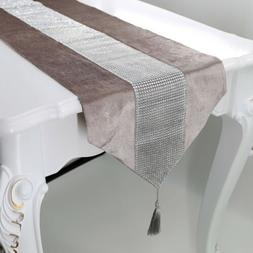 sparkle diamante table runner cloth luxury velvet