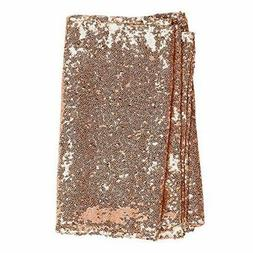 Ling's moment Sparkly Sequin Table Runner Rose Gold 12 x 108