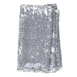 Ling's moment Sparkly Sequin Table Runner Silver 12 x 108 In