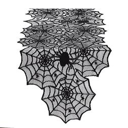 Spider Web Lace 72 Inch Halloween Table Runner