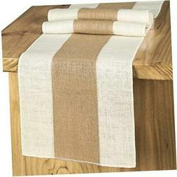 Splicing Burlap Table Runner Rustic Table Runner Woven Table
