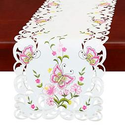 Simhomsen Spring Butterfly and Floral Table Runners, Dresser