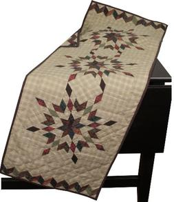 Star Garland Table Runner Quilt 50 Inches Long by 17 Inches