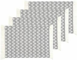 Sticky Toffee Cotton Woven Placemat Set with Fringe, Scallop
