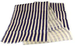 "Kel-Toy Inc Striped Burlap Table Runner, 15"" by 72"", Natural"
