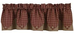 Sturbridge Lined Point Valance - Wine