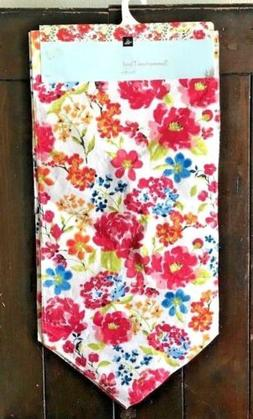 "Homewear Summertime Floral 14"" x 90"" Table Runner"