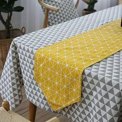 MeMoreCool Table Flag/Runner Geometry Pattern Cotton 12 X 87