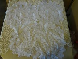 Heritage lace table mat doily runner Dogwood floral 3pc 1 -
