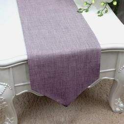 Essencea Table Runner 13 x 72 Inches | Lavender | Solid Faux
