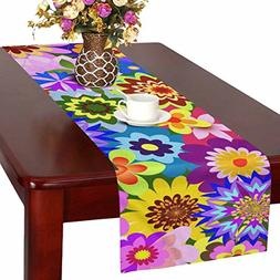 InterestPrint Table Runner 16in72in print with bright colorf