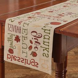 """Table Runner 36"""" - Harvest Sentiments by Park Designs - Fall"""