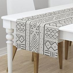 Table Runner - African Mudcloth Tribal Decor Scarf Upholster