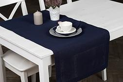 "Linen Table Runner - 20""x55"" - Dark Blue - Navy Color - Tabl"