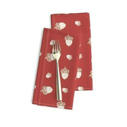 Table Runner Autumn Fall Flowers Cotton Dinner Napkins by Ro