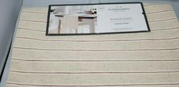 Threshold Table Runner Beige with Wine colored Strip
