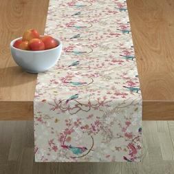 table runner chinoiserie birds bees chinoiserie floral